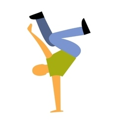 New dance flat icon vector