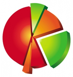 pie chart vector image