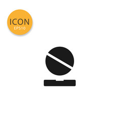 pills icon isolated flat style vector image