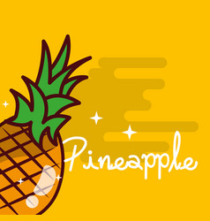 Pineapple fruit delicious shiny poster vector