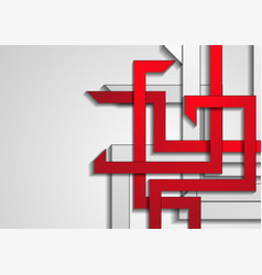 red and grey stripes abstract technology vector image