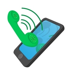 Ringing phone cartoon icon vector