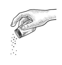 Salt and pepper shaker sketch vector