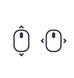 Scroll with mouse icons vector