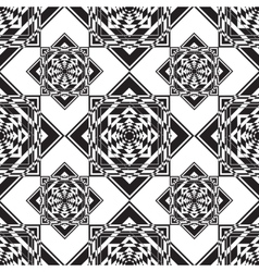 Seamless monochrome ornament squares vector