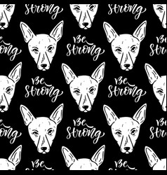 Seamless pattern with dogs wrapping paper for vector