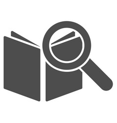 Search book icon vector