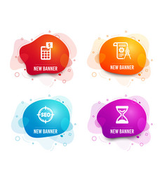 Seo calculator and divider document icons time vector
