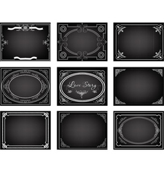 Set old movie frames vector
