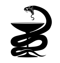sign of a black snake vector image