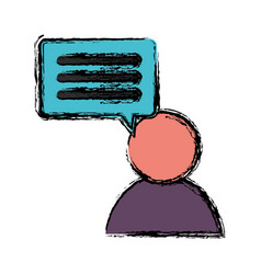 Speech bubble design vector
