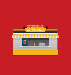 stall sells fast food flat vector image