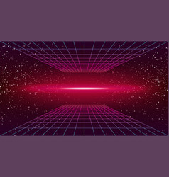 Synthwave neon background scary pink glow vector