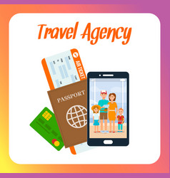 travel agency social media post layout with text vector image