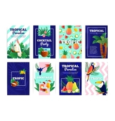 Tropical Banners Cards Set vector image vector image