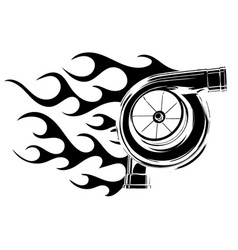 Turbocharger icon silhouette vector