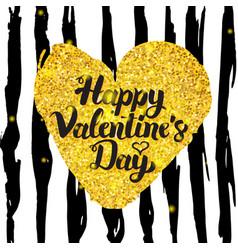 valentines day handwritten card vector image