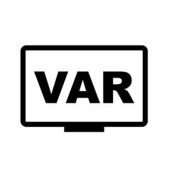 var icon symbol simple design vector image