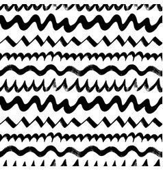 wavy zig zag curly lines seamless pattern vector image