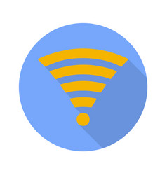 wi fi symbol on white background vector image