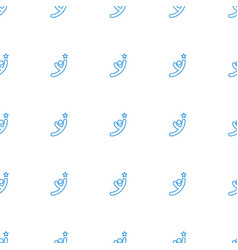 winner icon pattern seamless white background vector image