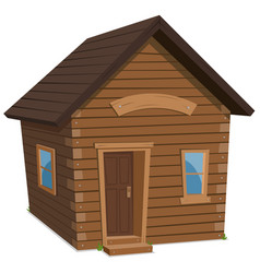 Wood house lifestyle vector