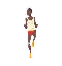 Young african american man running professional vector