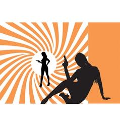 007 bond girls vector image