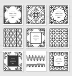 filigree frames and decorative panels set laser vector image vector image