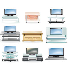 furniture icon set TV stands vector image vector image
