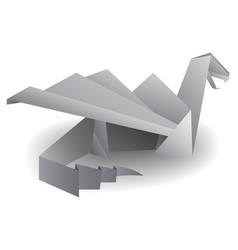 origami dragon isolated on white transparent vector image vector image