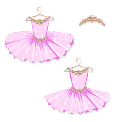 pink tutu on the hanger vector image vector image