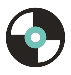vinyl disc isolated icon design vector image