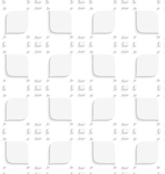 White small rectangle gropes and leaves seamless vector image vector image