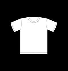 white t-shirt template isolated clothing on black vector image