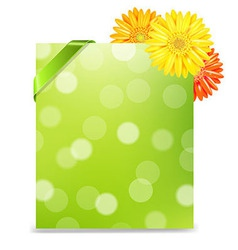 Yellow Gerber And Blank Gift Tag vector image vector image