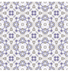 delicate blue and white seamless pattern vector image vector image