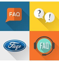 FAQ icons vector image
