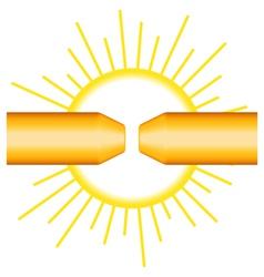 Arcing vector image