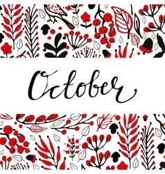 Hand drawn autumn background vector image