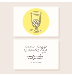 Hand drawn candy bar business card template vector image vector image