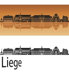 Liege skyline in orange vector image vector image