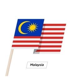 Malaysia Ribbon Waving Flag Isolated on White vector image