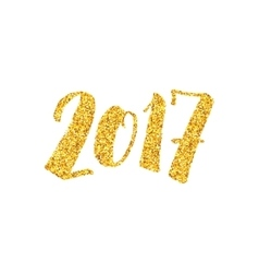 New Year 2017 greeting card with calligraphy vector image vector image