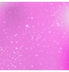 Pink Technology Background with Particle vector image vector image