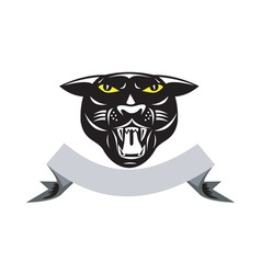 Black Panther Big Cat Grow Head Isolated vector image vector image