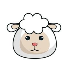 cute sheep stuffed icon vector image