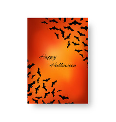 Funny pattern with bats for halloween vector