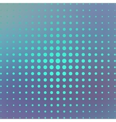 Halftone on the blue background vector image vector image