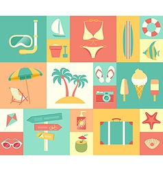 Icons summer vector
